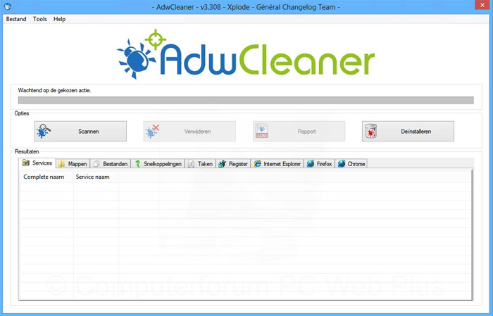 Adware verwijderen met AdwCleaner