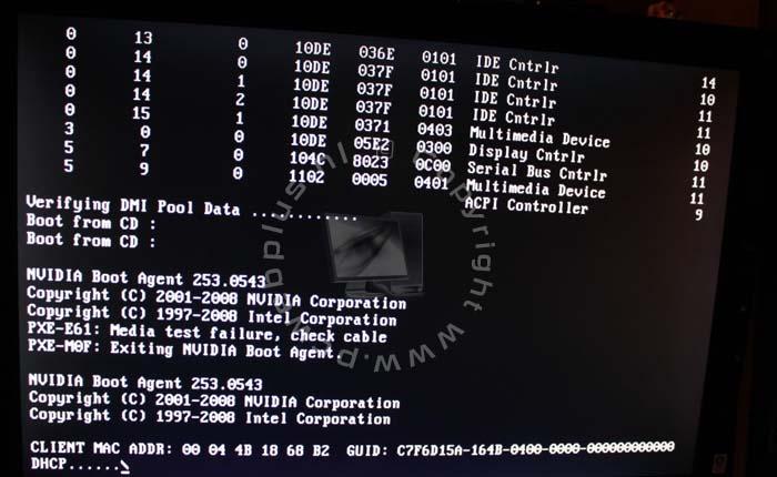 Nvidia boot agent - Disk Boot Failure