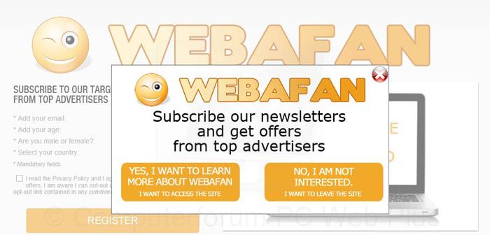 Webafan.com pop-ups verwijderen