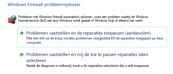 Windows Firewall problemen oplossen
