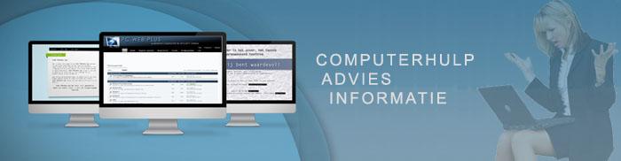 Computerproblemen? Stel uw vraag op het forum van PC Web Plus.