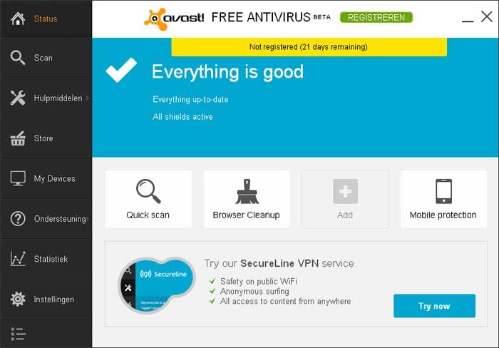 Gratis virusscanner avast! Free Antivirus