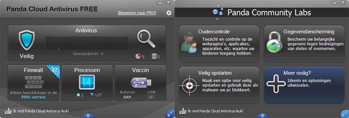 Gratis virusscanner Panda Cloud Antivirus