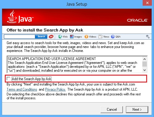 Java-Ask-Toolbar