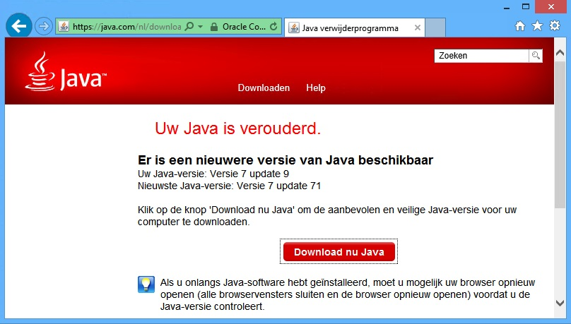 Java-Downloaden
